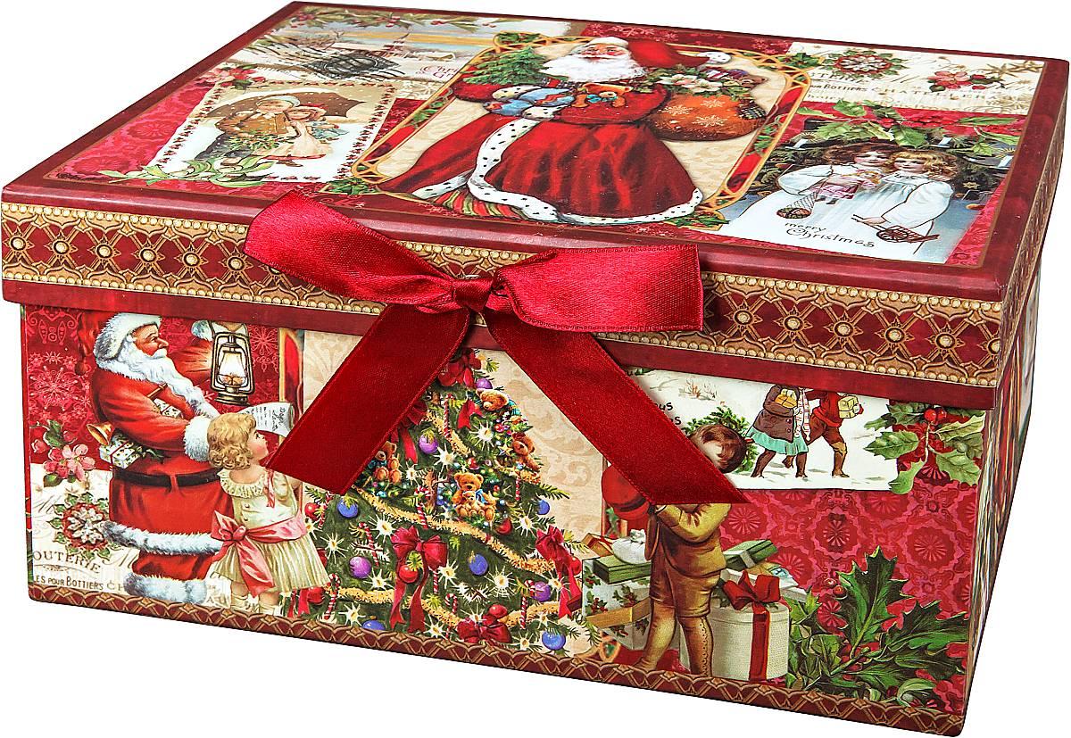 Коробка подарочная новогодняя Mister Christmas Дед Мороз и дети, 20 х 14 х 10 смBR-B-RECTANGLE-B-2Картонная коробка Mister Christmas Дед Мороз и дети - это один из самых распространенных вариантов упаковки подарков. Любой, даже самый нестандартный подарок упакованный в такую коробку, создаст момент легкой интриги, а плотный картон сохранит содержимое в первоначальном виде. Оригинальный дизайн самой коробки будет долго напоминать владельцу о трогательных моментах получения подарка.