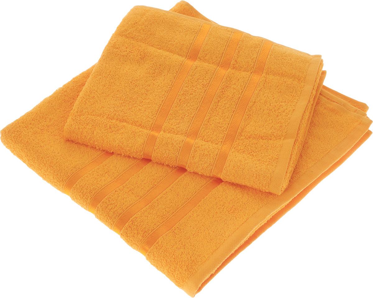 Набор полотенец Tete-a-Tete Ленты, цвет: оранжевый, 2 шт. УНП-101УНП-101-03Набор Tete-a-Tete Ленты состоит из двух махровых полотенец, выполненных из натурального 100% хлопка. Бордюр полотенец декорирован лентами. Изделия мягкие, отлично впитывают влагу, быстро сохнут, сохраняют яркость цвета и не теряют форму даже после многократных стирок. Полотенца Tete-a-Tete Ленты очень практичны и неприхотливы в уходе. Они легко впишутся в любой интерьер благодаря своей яркой цветовой гамме.