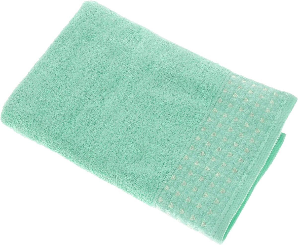 Полотенце Tete-a-Tete Сердечки, цвет: бирюзовый, 50 х 90 см. УП-007УП-007-02Махровое полотенце Tete-a-Tete Сердечки, изготовленное из натурального хлопка, подарит массу положительных эмоций и приятных ощущений. Полотенце отличается нежностью и мягкостью материала, утонченным дизайном и превосходным качеством. Линейка Сердечки декорирована бордюром с сердечками и горошком, полотенце выполнено в пастельном тоне. Полотенце прекрасно впитывает влагу, быстро сохнет и не теряет своих свойств после многократных стирок. Махровое полотенце Tete-a-Tete Сердечки станет прекрасным дополнением в дизайне ванной комнаты.