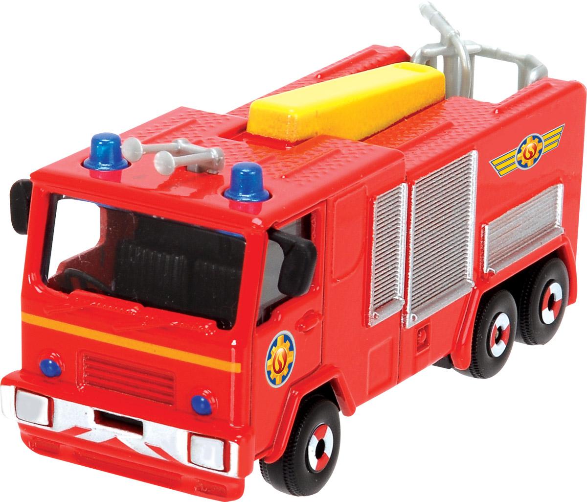 Dickie Toys Пожарная машинка Jupiter3093000Главный элемент технического оснащения пожарной команды - конечно, красная пожарная машина! Пожарная машина Dickie Toys Jupiter выполнена в реалистичном стиле и оснащена декоративными элементами - парой синих маячков, брандспойтом, окошками, закрытыми жалюзи. Кабина застеклена. Имеются 3 пары колес. Машинка изготовлена из прочных, качественных и безопасных материалов, аккуратно раскрашена яркими красками. Пополните коллекцию моделей пожарной техники другими игрушками из серии Пожарный Сэм и организуйте собственную пожарную станцию!