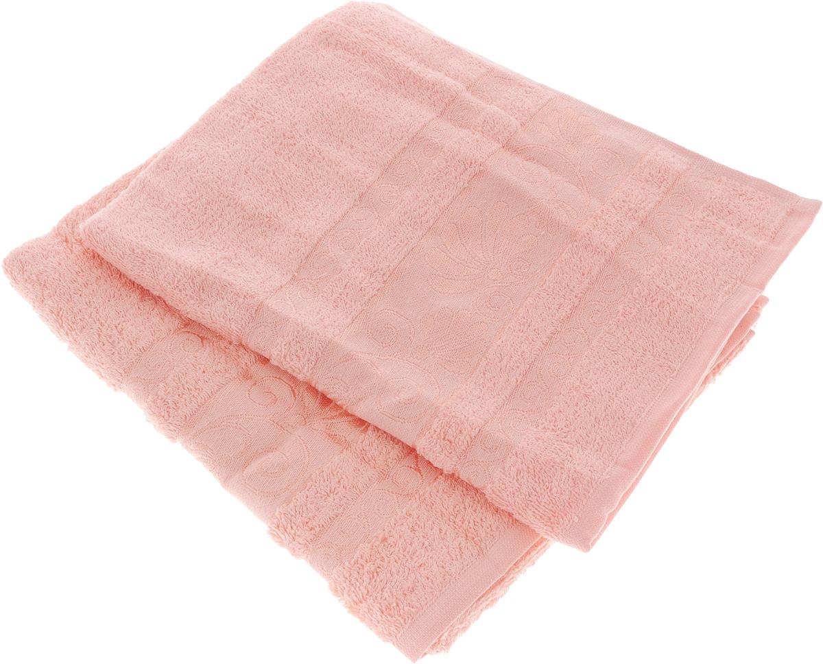Набор полотенец Tete-a-Tete Цветы, цвет: светло-розовый, 50 х 90 см, 2 шт. УП-005УП-005-04-2Набор полотенец Tete-a-Tete Цветы состоит из 2 махровых полотенец, изготовленных из натурального хлопка. Набор подарит массу положительных эмоций и приятных ощущений. Полотенца отличаются нежностью и мягкостью материала, утонченным дизайном и превосходным качеством. Линейка Цветы создавалась, специально для женщин, она декорирована бордюром с растительным мотивом и выполнена в нежнейших тонах. Полотенце прекрасно впитывает влагу, быстро сохнет и не теряет своих свойств после многократных стирок. Набор полотенец Tete-a-Tete Цветы станет прекрасным дополнением в дизайне ванной комнаты.