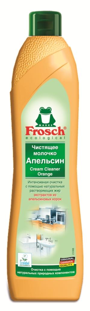 Чистящее молочко Frosch, с ароматом апельсина, 500 мл104807Чистящее молочко Frosch удаляет любые загрязнения, такие как жир, известковый налет и остатки мыла. Молочко содержит натуральную мраморную пыльцу, которая совершенно не царапает такие изысканные поверхности, которые не переносят абразива. А также содержит вещества из апельсиновых корок, которые эффективно растворяют жир. Средство подходит для очистки керамики, эмали, нержавеющей стали и стеклянных поверхностей, а также варочных поверхностей электроплит. Не использовать на акриловых поверхностях. Средство обладает свежим ароматом апельсина. Торговая марка Frosch специализируется на выпуске экологически чистой бытовой химии. Для изготовления своей продукции Frosch использует натуральные природные компоненты. Ассортимент содержит все необходимое для бережного ухода за домом и вещами. Продукция торговой марки Frosch эффективно удаляет загрязнения, оберегает кожу рук и безопасна для окружающей среды. Характеристики: Объем: 500 мл. ...