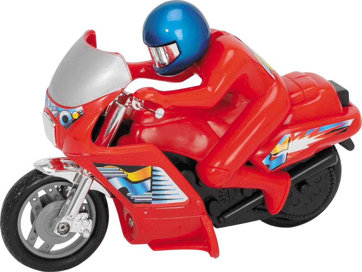 Dickie Toys Мотоцикл Power Bike3342004_красныйМотоцикл Dickie Toys Power Bike - это игрушечный мотоцикл, который обязательно удовлетворит желания вашего юного любителя экстрима. Он выполнен в ярко-красном цвете, который сразу же бросается в глаза. Кроме того, на поверхность мотоцикла нанесены наклейки и изображения, которые являются традиционными для гоночных моделей. Вместе с байком в комплект входит фигурка водителя, одетого в шлем и красный костюм. Его голова подвижна и позволяет ему смотреть в разных направлениях. Сделайте вашему ребенку такой замечательный подарок!