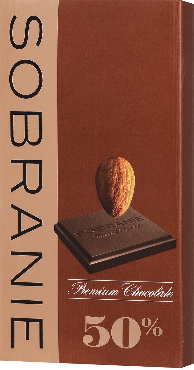 Sobranie темный шоколад с орехами, 90 г