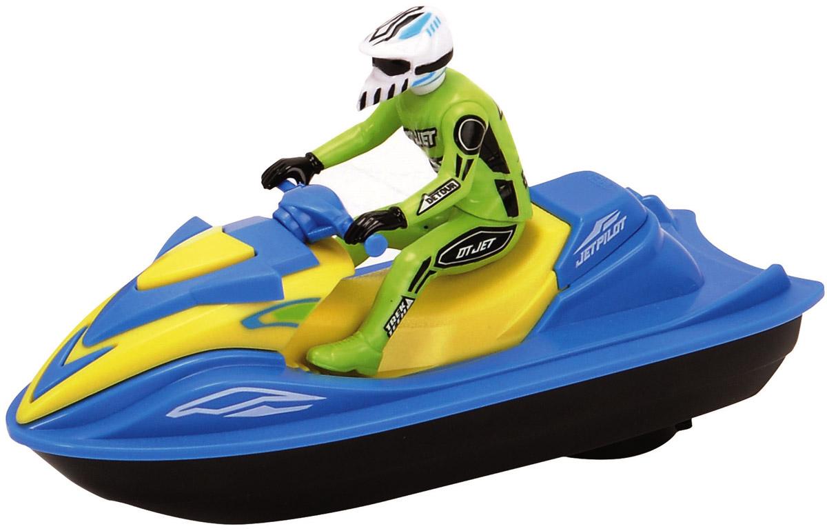 Dickie Toys Водный мотоцикл Sea Jet цвет голубой салатовый3772003_голубой, салатовыйВодный мотоцикл Dickie Toys Sea Jet - это игрушечный водный мотоцикл, за рулем которого сидит фигурка человека в шлеме. Водный мотоцикл действительно может плыть по воде, причем довольно быстро. Включается игрушка с помощью рычажка на правом борту мотоцикла. Сделайте вашему ребенку такой замечательный подарок! Для работы игрушки необходима 1 батарейка типа АА напряжением 1,5V (не входит в комплект).