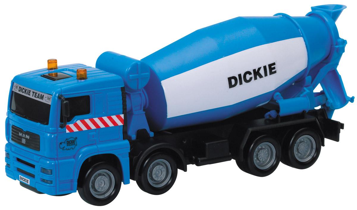 Dickie Toys Бетономешалка MAN3744001_камазБетономешалка Dickie Toys MAN привлечет внимание вашего ребенка и не позволит ему скучать. Игрушка выполнена из прочного пластика в виде хорошо детализированной бетономешалки. Цилиндр и колеса у машины крутятся. Ваш ребенок сможет часами играть с таким транспортом, придумывая разные истории. Порадуйте его таким замечательным подарком!