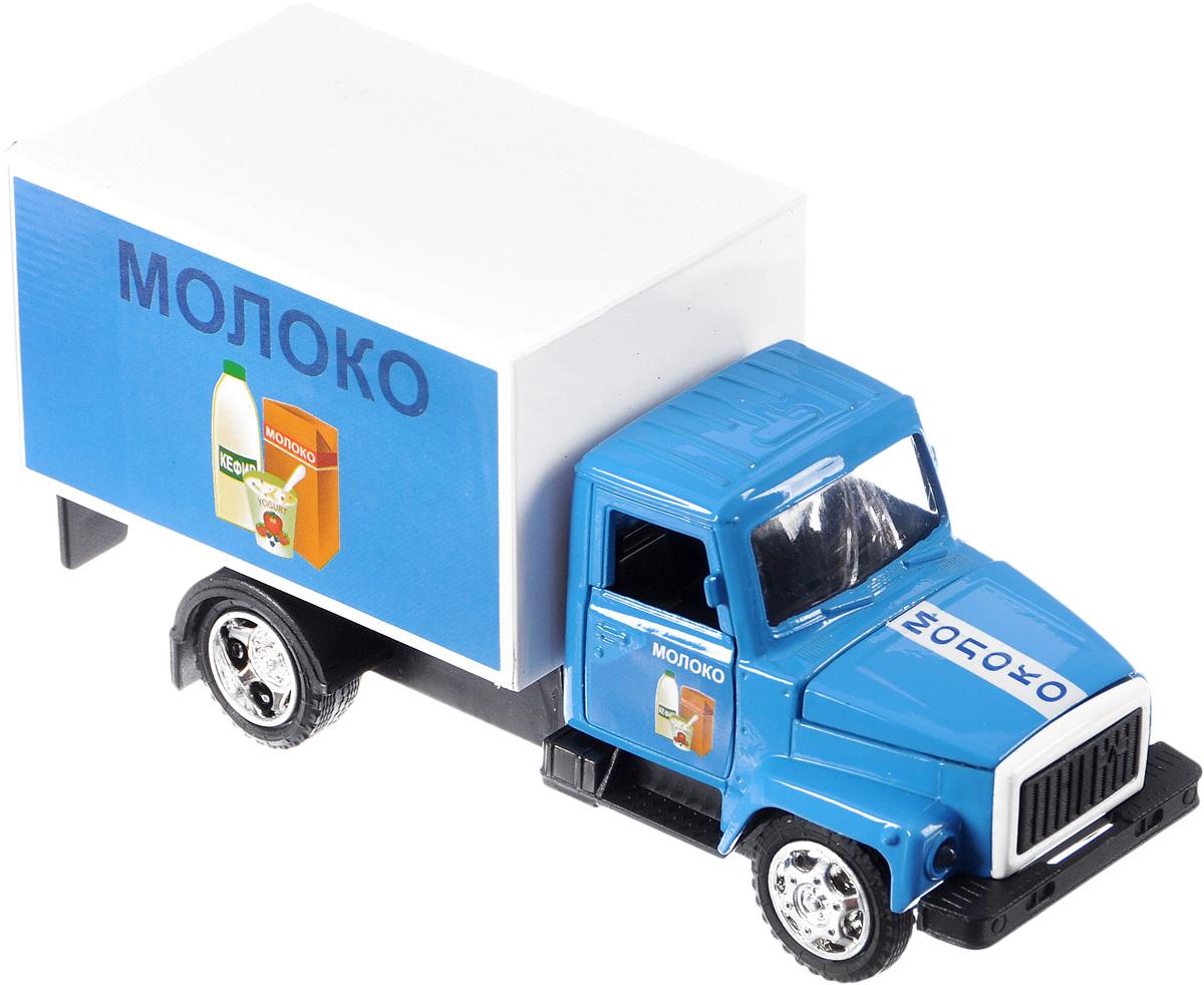 ТехноПарк Машина инерционная ГАЗ-3307 МолокоCT10-055-25Инерционная машина ТехноПарк ГАЗ-3307 Молоко, выполненная из безопасного металла и пластика, станет любимой игрушкой вашего малыша. У машины открываются боковые и задние двери, капот, также имеются световые и звуковые эффекты. Машина оснащена инерционным ходом. Машинку необходимо немного подтолкнуть вперед или назад, а затем отпустить - и она быстро поедет в том же направлении. Прорезиненные колеса обеспечивают надежное сцепление с любой поверхностью пола. Ваш ребенок будет часами играть с этой машинкой, придумывая различные истории. Порадуйте его таким замечательным подарком! Для работы игрушки необходимо докупить 3 батарейки напряжением 1,5V типа LR41 (товар комплектуется демонстрационными).