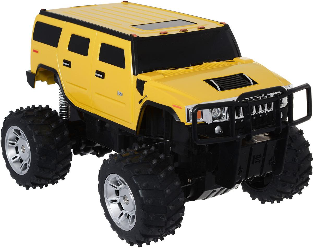 Rastar Радиоуправляемая модель Hummer H2 цвет желтый масштаб 1:1428100, 28800Радиоуправляемая модель Rastar Hummer H2 станет отличным подарком любому мальчику! Все дети хотят иметь в наборе своих игрушек ослепительные, невероятные и крутые автомобили на радиоуправлении. Тем более, если это автомобиль известной марки с проработкой всех деталей, удивляющий приятным качеством и видом. Одной из таких моделей является автомобиль на радиоуправлении Rastar Hummer H2. Это точная копия настоящего авто в масштабе 1:14. Автомобиль отличается потрясающей маневренностью, динамикой и покладистостью. Возможные движения: вперед, назад, вправо, влево, остановка. Имеются световые эффекты. Пульт управления работает на частоте 27 MHz. Для работы игрушки необходим аккумулятор (входит в комплект). Для работы пульта управления необходима 1 батарейка 9V (6F22) (не входит в комплект).