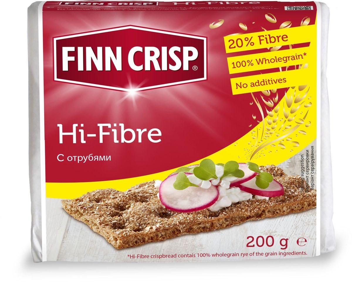 Finn Crisp Hi-Fibre хлебцы с отрубями, 200 г