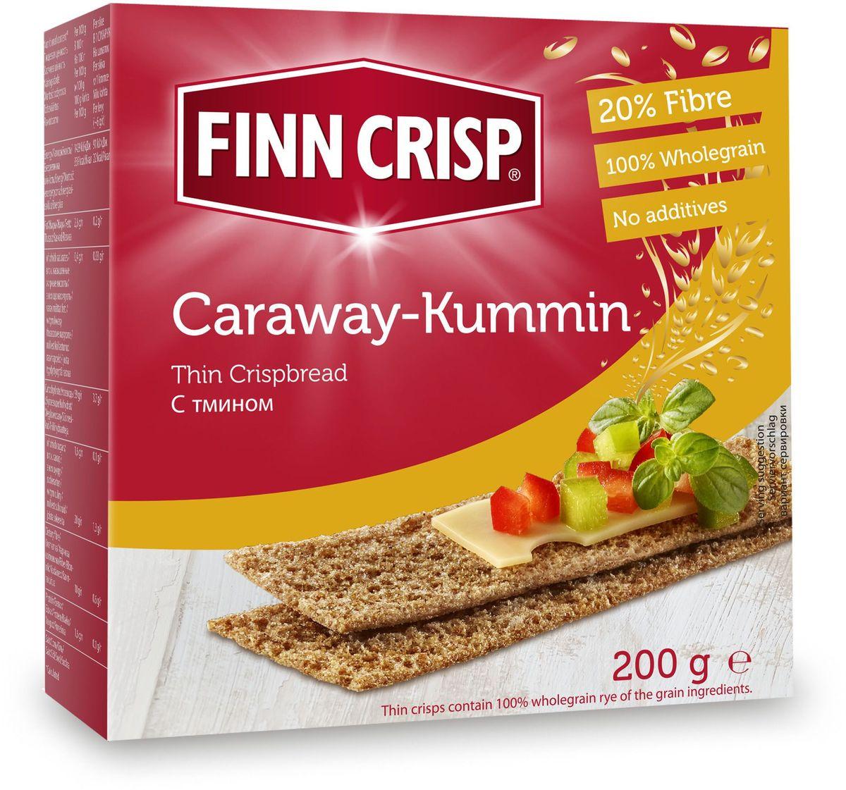 Finn Crisp Caraway хлебцы с тмином, 200 г20211