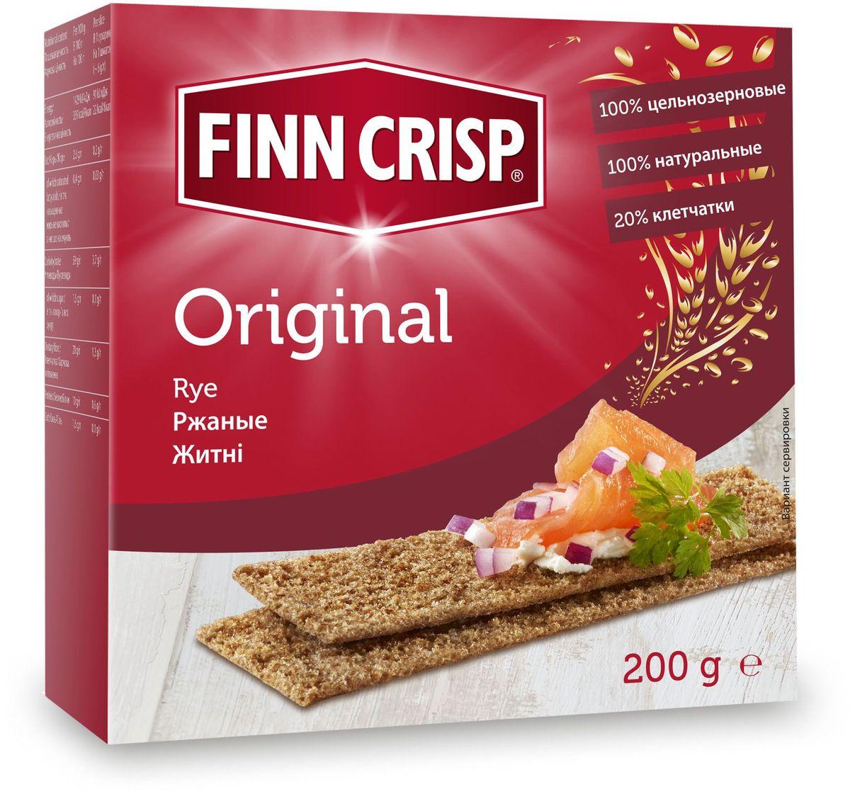 Finn Crisp Original хлебцы ржаные, 200 г20213