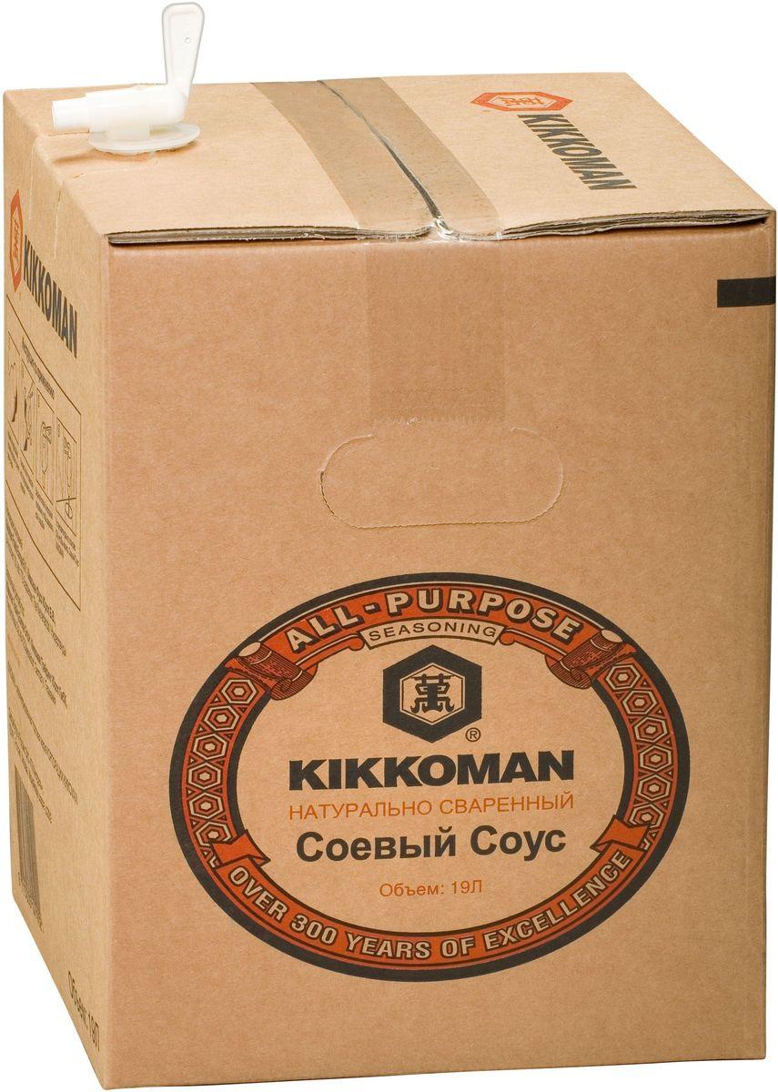 Kikkoman соус соевый, 19 л24238Классический продукт бренда Kikkoman (Киккоман) - натуральный соевый соус, который превосходно подходит как ингредиент, и как приправа для множества готовых блюд. Он идеально сочетается не только с деликатесами азиатской кухни, но и, например, со спагетти, американскими бюргерами или салатами. Соевый соус Kikkoman (Киккоман) изготавливается традиционным, классическим способом естественного брожения из сочетания 4 натуральных ингредиентов: соевых бобов, воды, пшеницы и соли. Натурально сваренный соевый соус Kikkoman прозрачный, имеет красновато-коричневый цвет и незабываемый, легко узнаваемый приятный вкус.