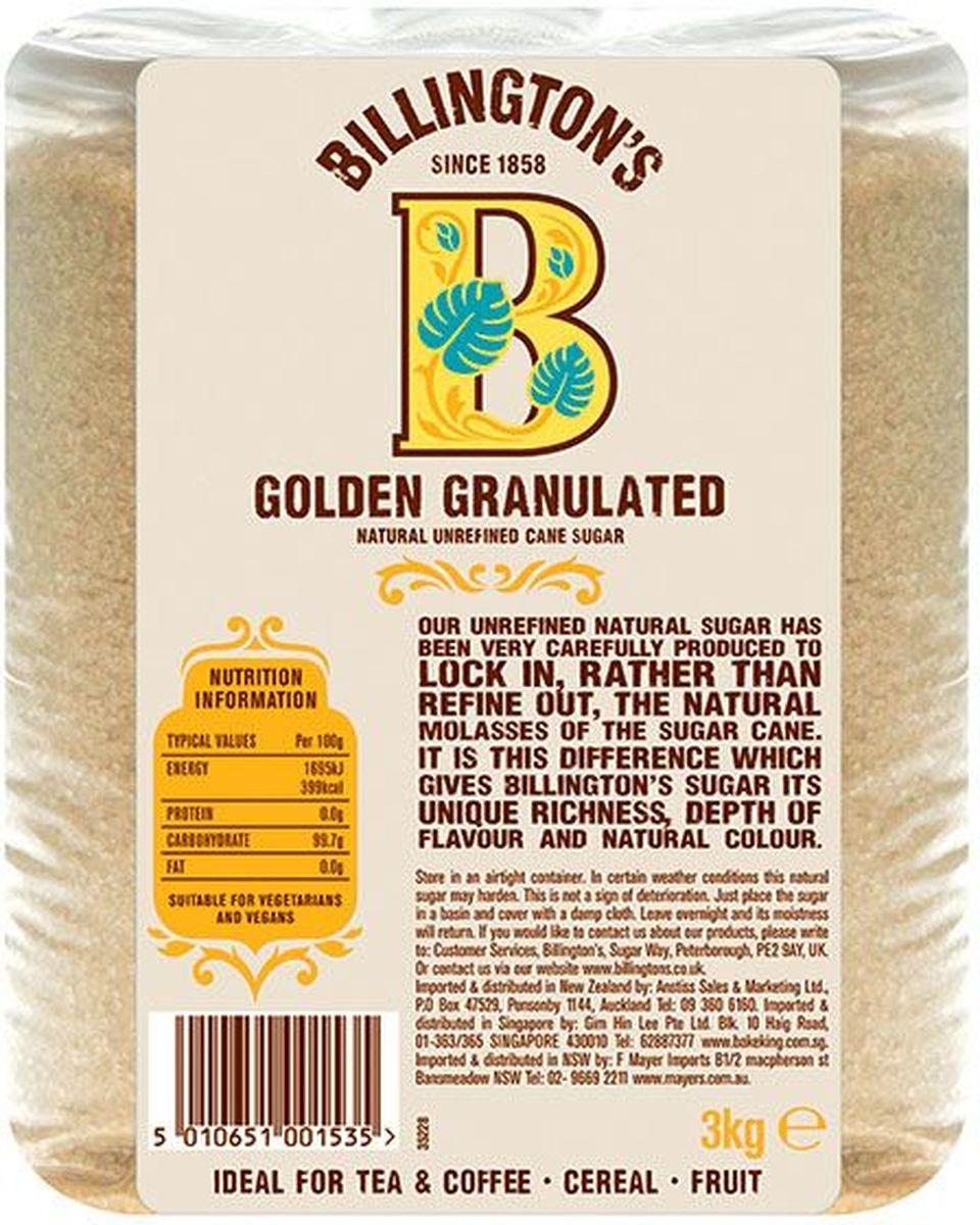 Billingtons Golden Granulated сахар нерафинированный, 3 кг28116
