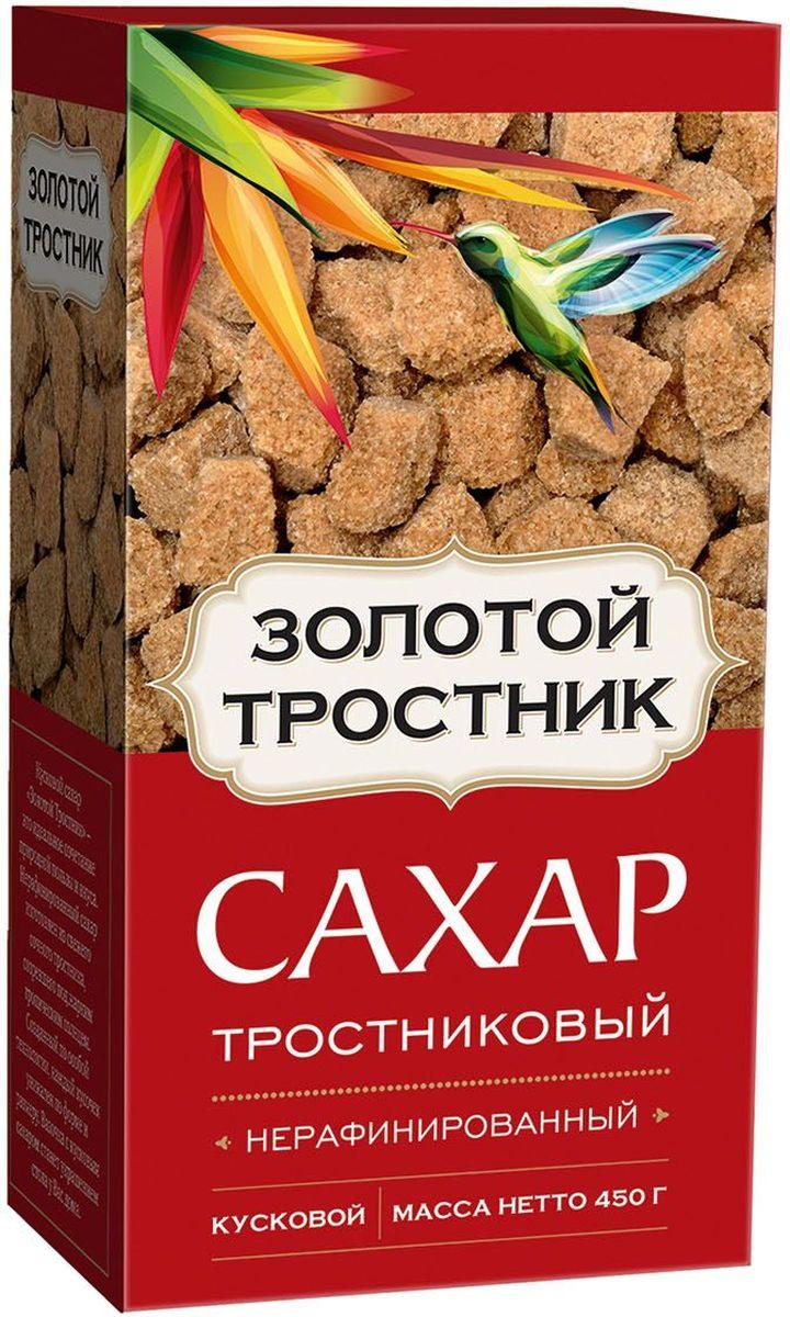 Золотой тростник сахар тростниковый нерафинированный в кубиках, 400 г