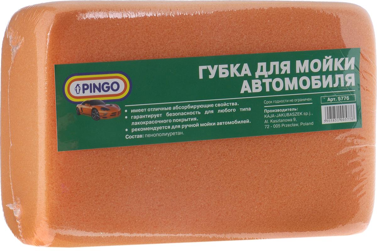 Губка для мытья автомобиля Pingo, цвет: оранжевый, 18 х 12 х 6 см5776_оранжевыйГубка для мытья автомобиля Pingo, изготовленная из пенополиуретана, предназначена для ручной мойки автомобиля. Она обладает отличными абсорбирующими свойствами и гарантирует безопасность для любого типа лакокрасочных покрытий. При использовании с моющими средствами изделие создает обильную пену.