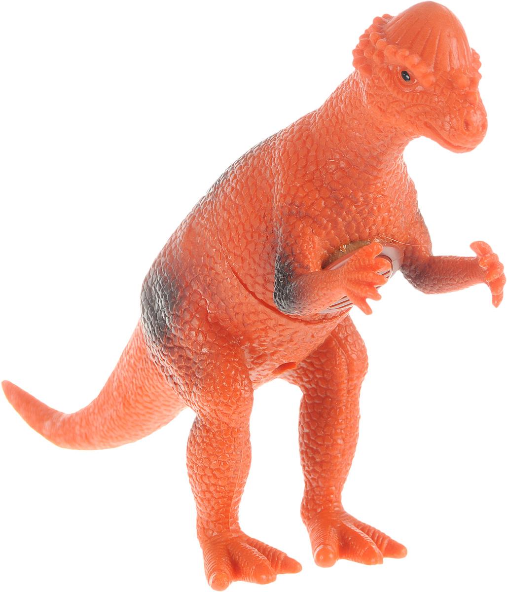 Играем вместе Фигурка Динозавр цвет оранжевыйHT386IC_оранжевыйФигурка Играем вместе Динозавр очень реалистично выглядит. К тому же, фигурка еще и озвучена. С такой игрушкой маленький натуралист сможет полностью погрузиться в атмосферу древней эры динозавров. Коллекция игрушек Рассказы о животных создана специально для маленьких любителей животных, она рассказывает и показывает различных обитателей нашей планеты, в том числе и тех, кто жил много миллионов лет назад, как этот динозавр. Игрушка работает от незаменяемых батареек.