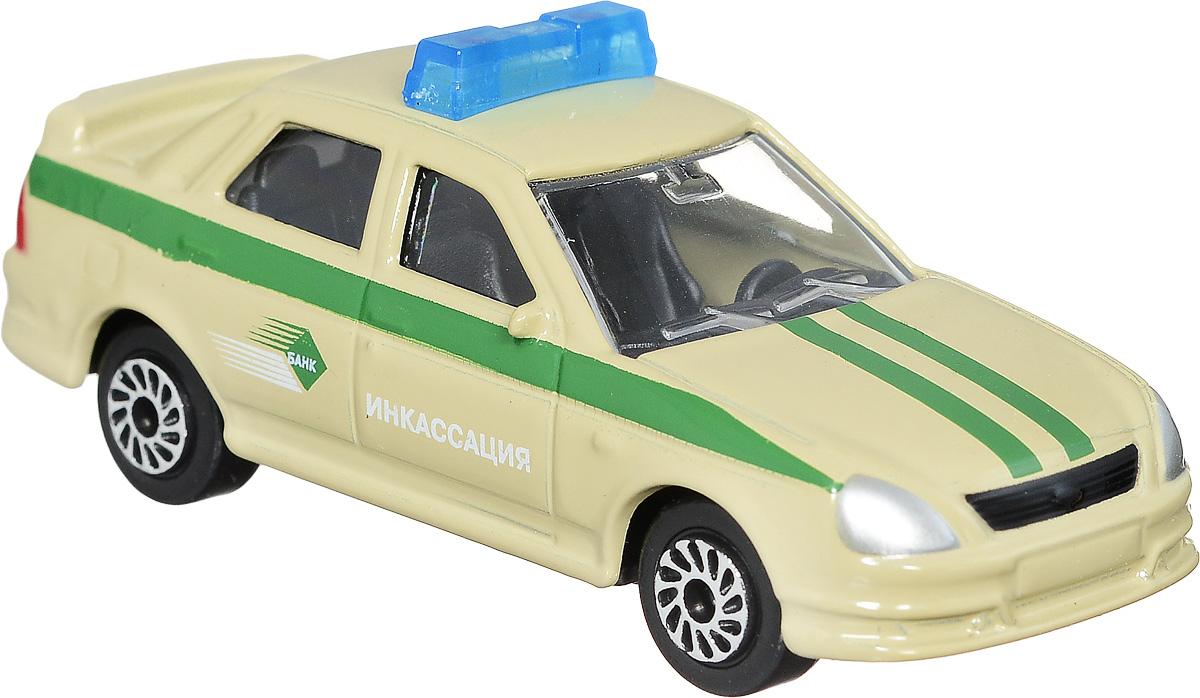 ТехноПарк Модель автомобиля Lada Priora ИнкассацияSB-13-09-LP(WB)Модель автомобиля ТехноПарк Lada Priora Инкассация - это копия оригинальной машины в масштабе 1:72. Модель выполнена из металла с пластиковыми элементами. Колеса машинки свободно вращаются. Во время игры с машинкой у ребенка развиваются мелкая моторика рук, фантазия и воображение. Эта великолепная модель станет отличным подарком для юного гонщика.