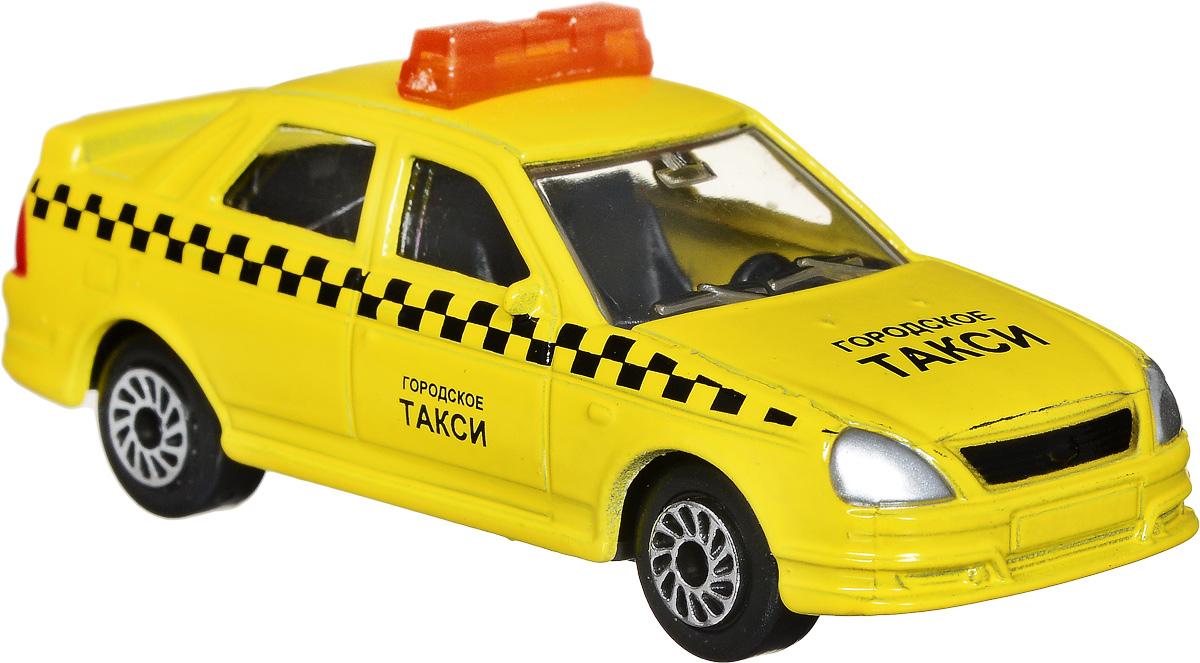ТехноПарк Модель автомобиля Lada Priora ТаксиSB-13-09-LP(WB)_желтыйМодель автомобиля ТехноПарк Lada Priora. Такси - это миниатюрная копия настоящей машины в масштабе 1:72. Выполненная из высококачественных материалов, она обязательно понравится не только ребенку, но и взрослому. Игрушечная модель с высокой детализацией оснащена металлическим корпусом и подвижными колесами. Машинка является отличным подарком для юного гонщика или взрослого коллекционера техники. Во время игры с такой машинкой у ребенка развиваются мелкая моторика рук, фантазия и воображение.
