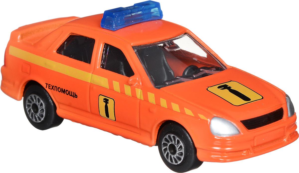 ТехноПарк Модель автомобиля Lada Priora ТехпомощьSB-13-09-LP(WB)_оранжевыйМодель автомобиля ТехноПарк Lada Priora Техпомощь - это копия оригинальной машины в масштабе 1:72. Модель выполнена из металла с пластиковыми элементами. Колеса машинки свободно вращаются. Во время игры с машинкой у ребенка развиваются мелкая моторика рук, фантазия и воображение. Эта великолепная модель станет отличным подарком для юного гонщика.