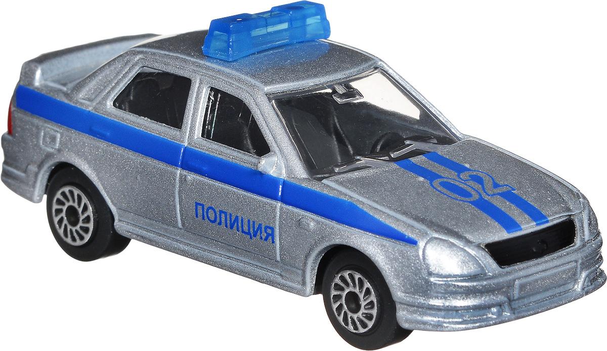 ТехноПарк Модель автомобиля Lada Priora Полиция цвет серебристыйSB-13-09-LP(WB)_серебристыйМодель автомобиля ТехноПарк Lada Priora. Полиция - это миниатюрная копия настоящей машины в масштабе 1:72. Выполненная из высококачественных материалов, она обязательно понравится не только ребенку, но и взрослому. Игрушечная модель с высокой детализацией оснащена металлическим корпусом и подвижными колесами. Машинка является отличным подарком для юного гонщика или взрослого коллекционера техники. Во время игры с такой машинкой у ребенка развиваются мелкая моторика рук, фантазия и воображение.