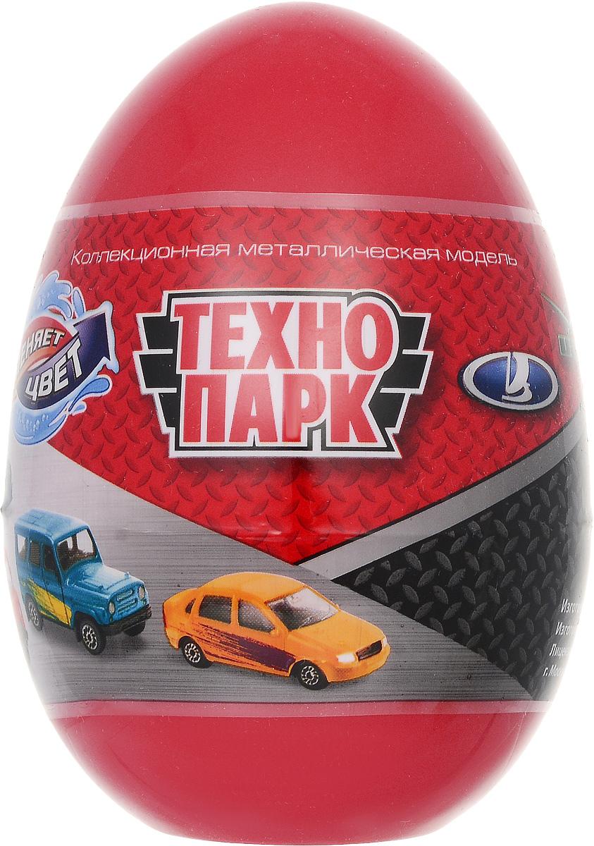 ТехноПарк Машинка УАЗ Лада цвет красныйSB-15-58Машинка ТехноПарк УАЗ. Лада станет отличным подарком для любого мальчишки! Упакованная в пластиковое яйцо, игрушка представляет собой модель автомобиля марки УАЗ или Лада. Машинка выполнена из металла с пластиковыми элементами. Колеса машинки свободно вращаются. Узнать, какая именно машинка находится в яйце, можно, только вскрыв упаковку. Машинка меняет свою окраску в теплой и холодной воде. Играя, малыш будет одновременно весело проводить свой досуг и знакомиться при этом с различными видами техники и профессиями, расширяя свой кругозор.