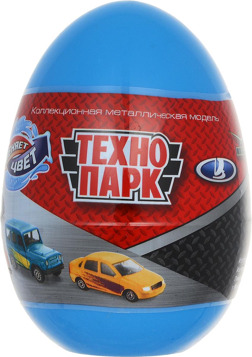 ТехноПарк Машинка УАЗ Лада цвет синийSB-15-58_синийМашинка ТехноПарк УАЗ. Лада станет отличным подарком для любого мальчишки! Упакованная в пластиковое яйцо, игрушка представляет собой модель автомобиля марки УАЗ или Лада. Машинка выполнена из металла с пластиковыми элементами. Колеса машинки свободно вращаются. Узнать, какая именно машинка находится в яйце, можно, только вскрыв упаковку. Машинка меняет свою окраску в теплой и холодной воде. Играя, малыш будет одновременно весело проводить свой досуг и знакомиться при этом с различными видами техники и профессиями, расширяя свой кругозор.