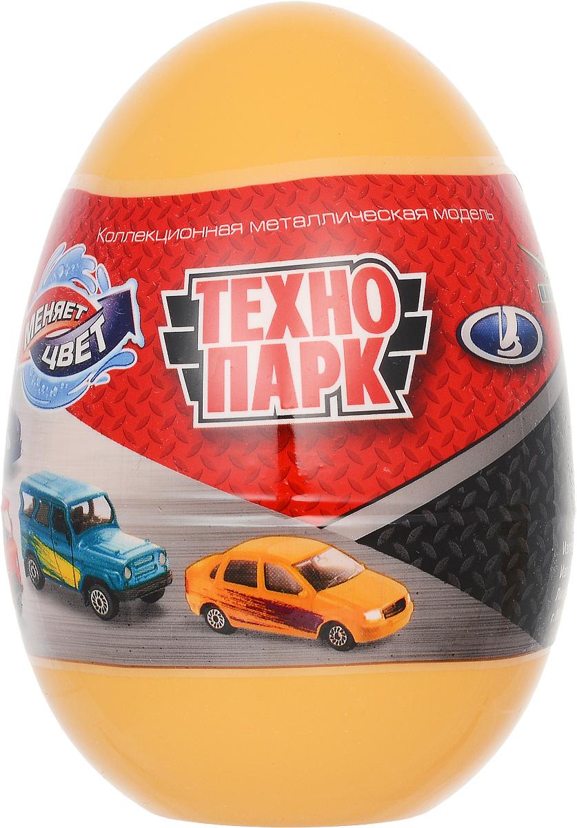 ТехноПарк Машинка УАЗ Лада цвет желтыйSB-15-58_желтыйМашинка ТехноПарк УАЗ. Лада станет отличным подарком для любого мальчишки! Упакованная в пластиковое яйцо, игрушка представляет собой модель автомобиля марки УАЗ или Лада. Машинка выполнена из металла с пластиковыми элементами. Колеса машинки свободно вращаются. Узнать, какая именно машинка находится в яйце, можно, только вскрыв упаковку. Машинка меняет свою окраску в теплой и холодной воде. Играя, малыш будет одновременно весело проводить свой досуг и знакомиться при этом с различными видами техники и профессиями, расширяя свой кругозор.