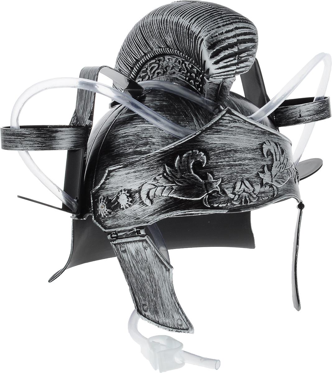 Каска Эврика Римлянин с подставками под банки96164Мужчина, умеющий оставаться настоящим рыцарем, даже выпивая, определенно заслуживает женского внимания! Чтобы совместить приятное с полезным, был придуман специальный шлем Эврика Римлянин. Каска выполнена из пластика и оснащена двумя держателями для банок/бутылок и двумя соединительными трубочками, благодаря которым можно смешивать два различных напитка в виде коктейля. Такая каска станет отличным решением для карнавала, дружеской вечеринки или в качестве амуниции болельщика на стадионе Загрузи голову и освободи руки! Рекомендуется использовать для употребления полезных напитков. Диаметр подставки для банки: 7 см.
