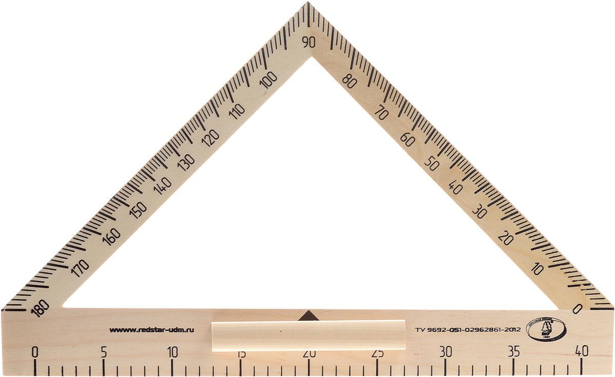 Красная звезда Транспортир классныйС176Транспортир классный Красная звезда изготовлен из твердолиственных пород древесины. Имеет лакированную поверхность. Транспортир - незаменимый помощник учителя геометрии. Изделие имеет ручку для удобства черчения на вертикальной или наклонной школьной доске. Цифры нанесены крупным шрифтом и не вызывают затруднений при чтении.