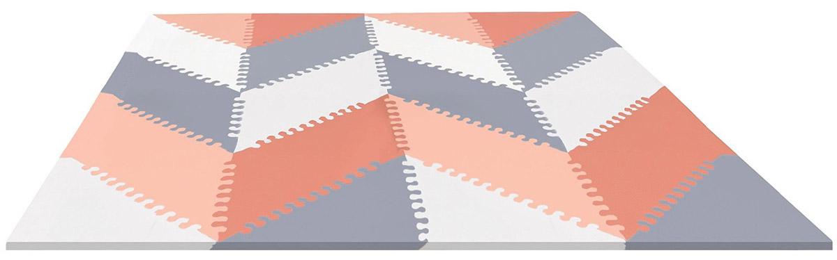 Skip Hop Напольный коврик-пазл ГеоSH 242027Skip Hop Гео - это мягкий напольный коврик-пазл, предназначенный для создания безопасной и комфортной игровой зоны малыша и развития его творческих способностей. Пазл складывается из сорока треугольных плиток. Переставлять плитки и сочетать цвета можно каждый раз по новому. В комплекте с плитками коврика имеются игровые плитки-фигурки. Игры с ковриком-мозаикой Гео способствуют развитию у малышей мелкой моторики рук, тактильных ощущений, фантазии, способности анализировать и сопоставлять детали, знакомят их понятиями формы, размера и цвета предмета. С помощью стимулирующих расцветок, различных вариантов сочетания цветов коврик навсегда преобразит игровое пространство малыша, создавая безопасную и комфортную поверхность для игр. Коврик-мозаика выполнен из экологически безопасного вспененного материала, обладающего большой плотностью. Это обеспечивает комфорт и удобство в использовании в виде напольного покрытия в детской и ванной комнате, в спортивном зале.