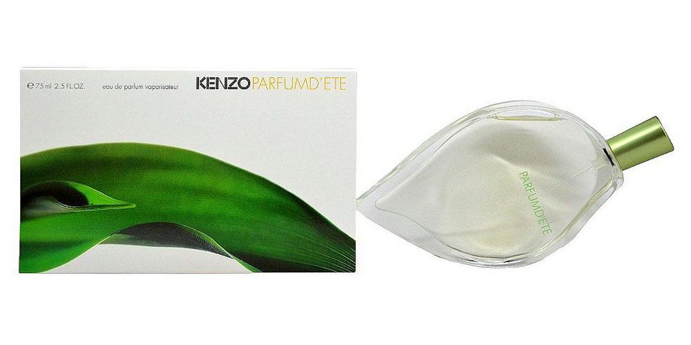 Kenzo DEte Парфюмерная вода женская, 75 мл06175Цветочный, зеленый аромат Dete от Kenzo чувственный и нежный. Словное теплое лето, аромат дарит зеленую свежесть и прекрасные ощущения. Благородный парфюм со светлыми, изысканными цветочными и зелеными нотками. Kenzo выпустил парфюм Dete в 1992 году и подарил ощущение лета круглый год. В парфюме Dete чувствуется свежий, легкий ветерок. Лучи солнца на спелом персике, на лепестке жасмина милая пчелка и капелька росы на молодом зеленом листике. Даже зимой, вдохнув этот чудный, волшебный аромат, он одарит всплеском эмоций и взрывом красок. Чувствуется ощущение безграничной свободы и счастья. Необычный дизайн флакона в виде листка создал известный Серж Мансо. Цветочную композицию создал Кристиан Матью. Спутнику понравится аромат Jungle pour homme. Нотки аромата Dete создают нежный ландыш, древесные сандал, кедр, мускус, божественная роза, иланг-иланг, ароматный персик, гиацинт, розовое дерево, пион, резеда, зелень. Дополняют ароматную мелодию нотки лотоса, амбры, ириса и цветки...