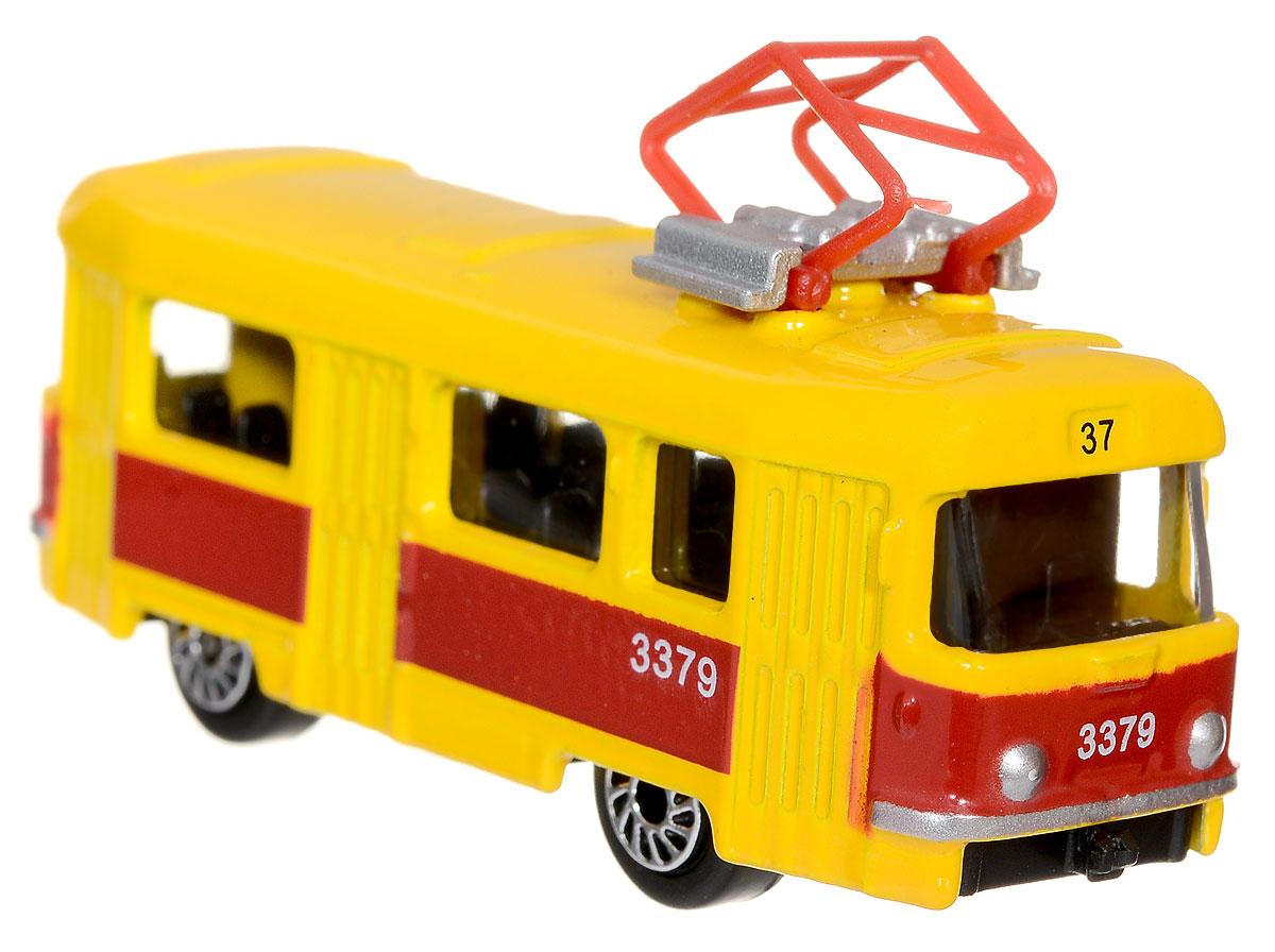 ТехноПарк Трамвай масштаб 1:72SB-13-01-2TМодель автомобиля ТехноПарк Трамвай - это копия реального трамвая в масштабе 1:72. Модель выполнена из металла с пластиковыми элементами. Колеса трамвая свободно вращаются. Во время игры с машинкой у ребенка развиваются мелкая моторика рук, фантазия и воображение. Эта великолепная модель станет отличным подарком для любого мальчика.