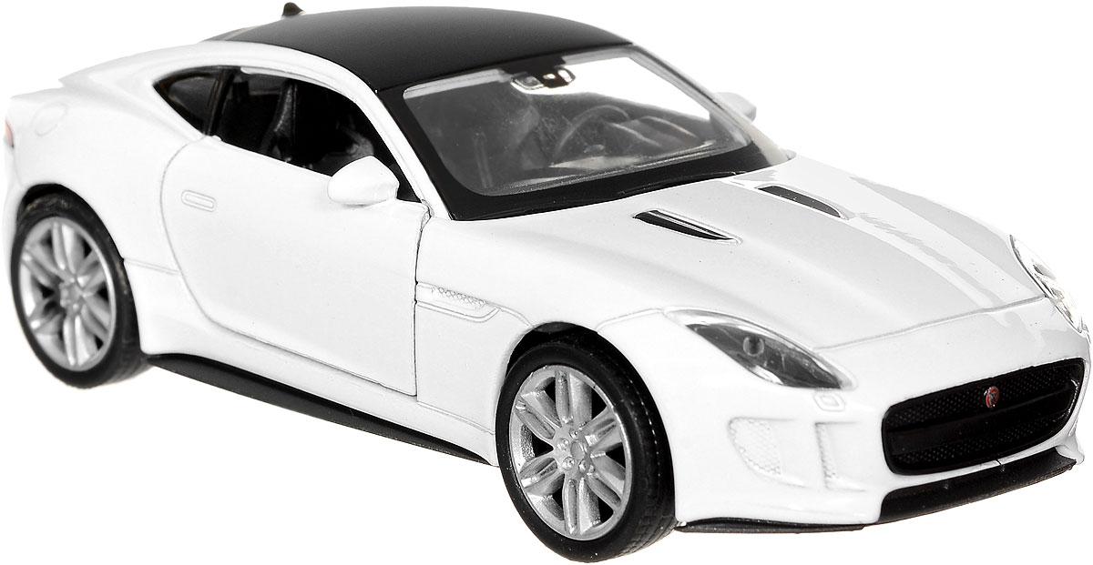 Welly Модель автомобиля Jaguar F-Type Coupe цвет белый43699_белыйМодель автомобиля Welly Jaguar F-Type Coupe - отличный подарок как ребенку, так и взрослому коллекционеру. Благодаря броской внешности, а также великолепной точности, с которой создатели этой модели передали внешний вид настоящего автомобиля, модель станет подлинным украшением любой коллекции авто. Машина будет долго служить своему владельцу благодаря металлическому корпусу с элементами из пластика. Дверцы машины открываются, резиновые шины обеспечивают отличное сцепление с любой поверхностью пола. Машинка оснащена инерционным механизмом: достаточно немного отвести машинку назад и затем отпустить, как она тут же поедет вперед. Такая модель станет замечательным подарком не только любителю автомобилей, но и человеку, ценящему оригинальность и изысканность, а качество исполнения представит такой подарок в самом лучшем свете.