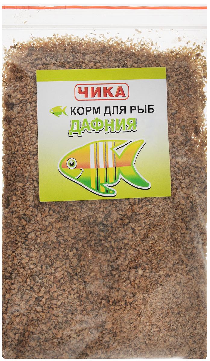 Корм для рыб Чика Дафния, 85 мл. 46070450603014607045060301Чика Дафния - это самый распространенный и популярный универсальный корм для рыб всех видов и возрастов. Изготовлен из планктонных пресноводных рачков дафния методом сублимированной сушки. Предназначен для ежедневного кормления, охотно поедается рыбами, содержит необходимый для рыб натуральный белок и натуральные вещества. Дафния считается одним из наиболее близких по составу и свойствам к естественным кормам для рыб. Такой корм дают 1-2 раза в день по 1/4 чайной ложки на 4-5 рыб. Товар сертифицирован.