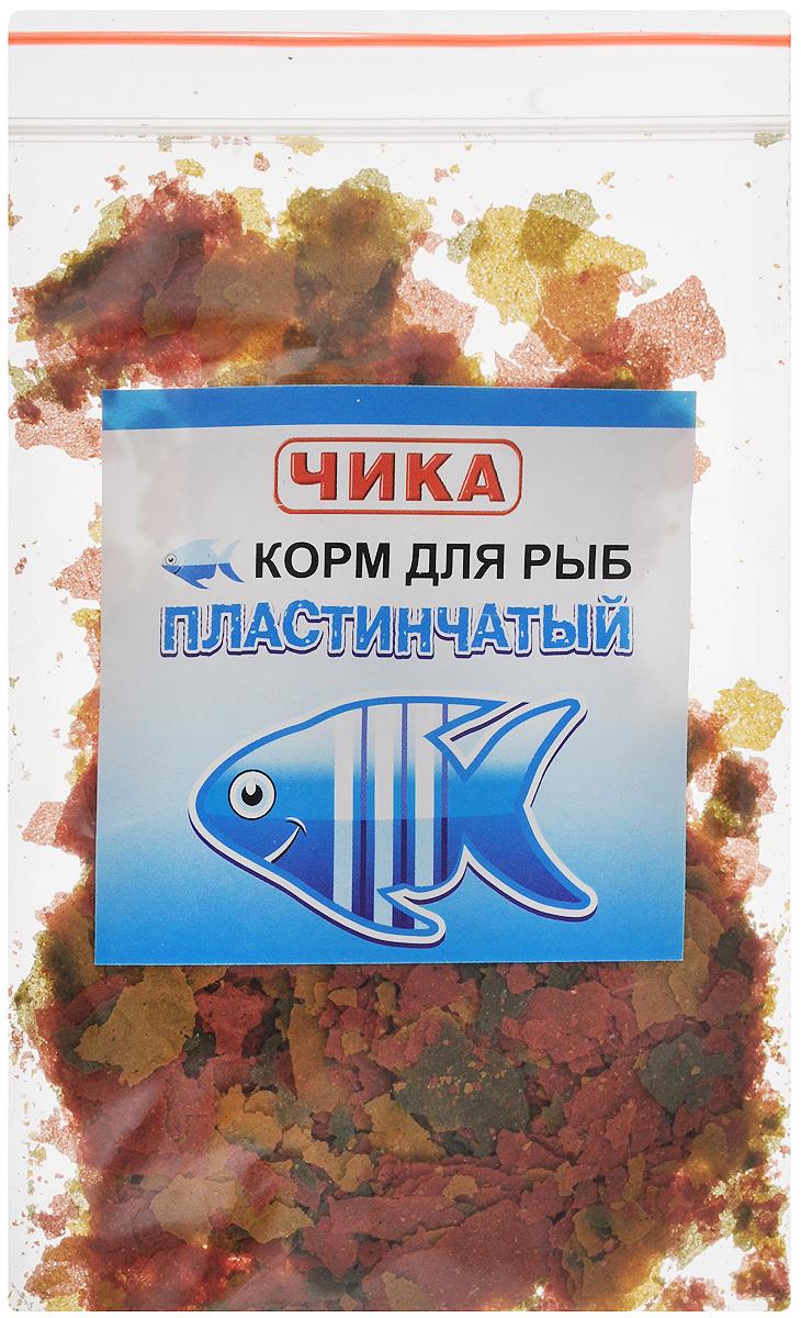 Корм для рыб Чика, пластинчатый, 85 мл. 46070450602884607045060288Хлопьевидный корм для рыб Чика - это высококачественный корм, состоящий из натуральных, растительных и животных ингредиентов. Уникальность этого корма заключается в том, что за счет содержания в нем натуральных вытяжек и добавок природных продуктов, он улучшает у рыб обмен веществ и аппетит, стимулирует яркость окраски. Хлопьевидный корм нельзя сыпать в воду прямо из банки. Рекомендуется брать его пальцами и разбрасывать по воде. Нормой считается количество корма, которое рыбы съедают за 2-3 минуты. При умеренном кормлении хлопьевидный корм не замутняет воду в аквариуме. Товар сертифицирован.