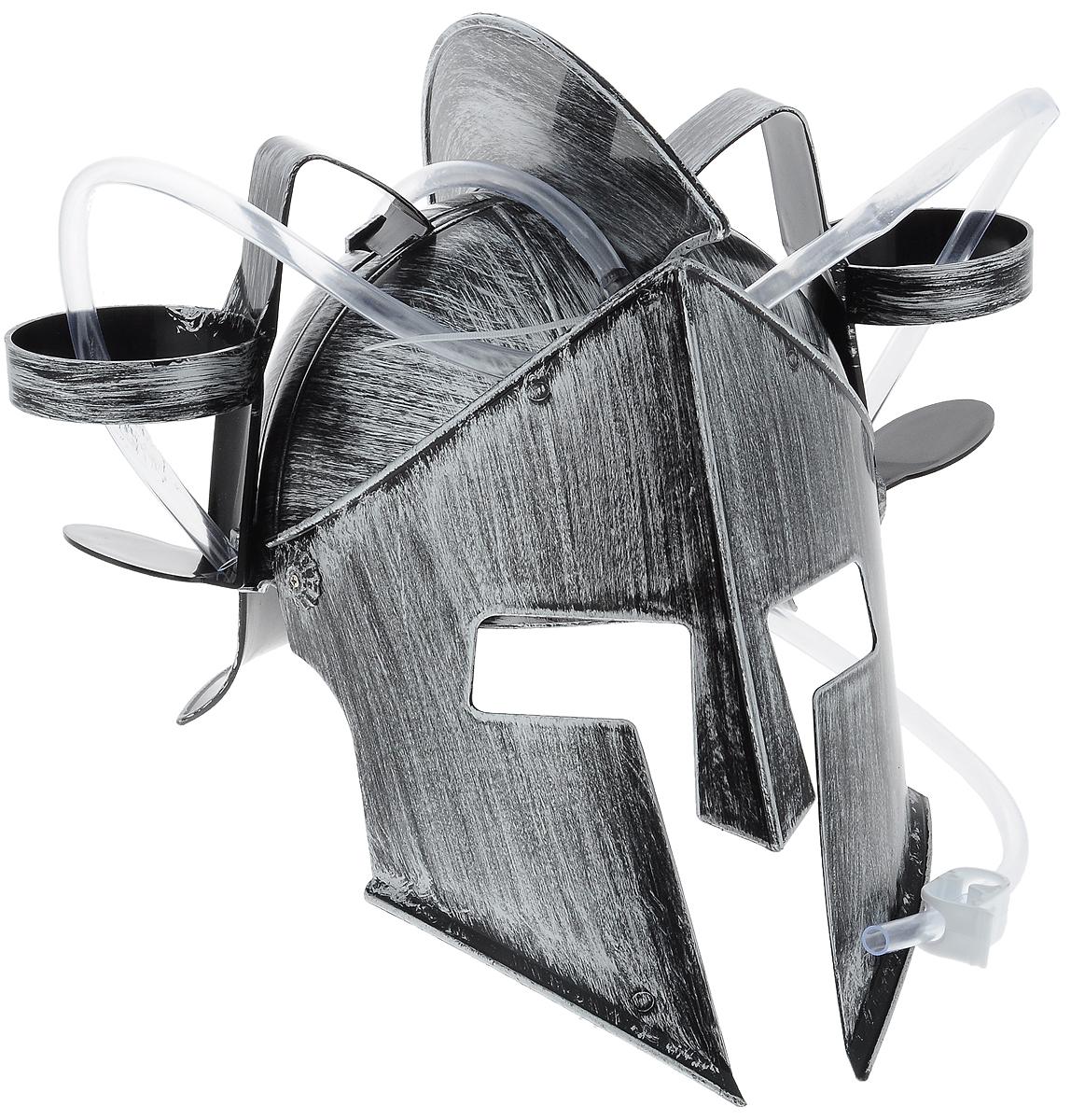 Каска Эврика Рыцарь, с подставками под банки96166Мужчина, умеющий оставаться настоящим рыцарем, даже выпивая, определенно заслуживает женского внимания! Чтобы совместить приятное с полезным, был придуман специальный шлем Эврика Рыцарь. Каска выполнена из пластика и оснащена двумя держателями для банок/бутылок и двумя соединительными трубочками, благодаря которым можно смешивать два различных напитка в виде коктейля. Такая каска станет отличным решением для карнавала, дружеской вечеринки или в качестве амуниции болельщика на стадионе Загрузи голову и освободи руки! Рекомендуется использовать для употребления полезных напитков. Диаметр подставки для банки: 7 см.