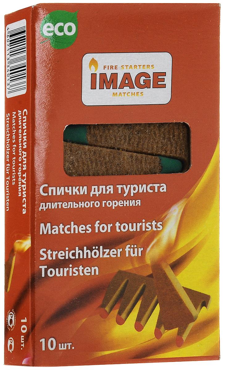 Спички длительного горения Image Турист, длина 5 см, 10 шт40137Спички Image Турист используются для разжигания угля, дров, камина, барбекю, костра при любых погодных условиях. Состав: картон, ДВП, парафин, чиркаш. Длина спичек: 5 см.