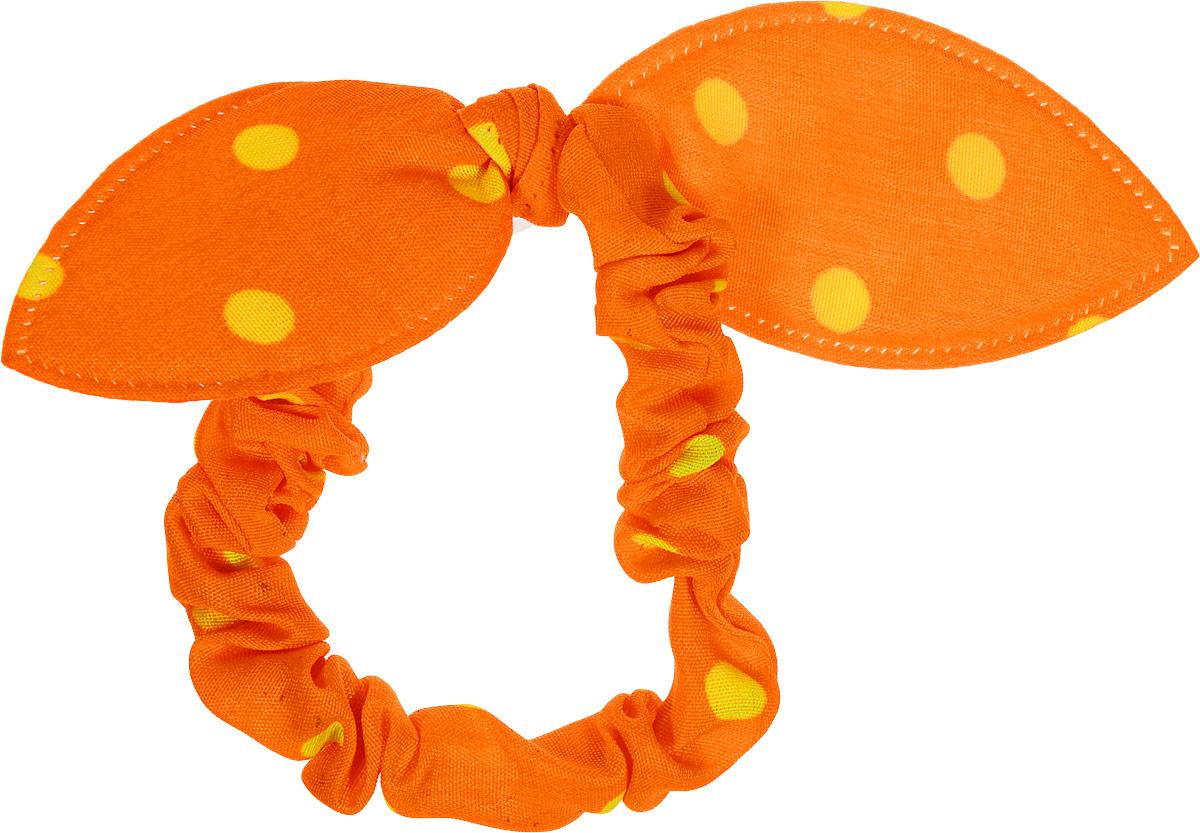 Magic Leverage Резинка в горошек, оранжеваяРГ_оСтильная и удобная резинка для волос. Диаметр 5 см.