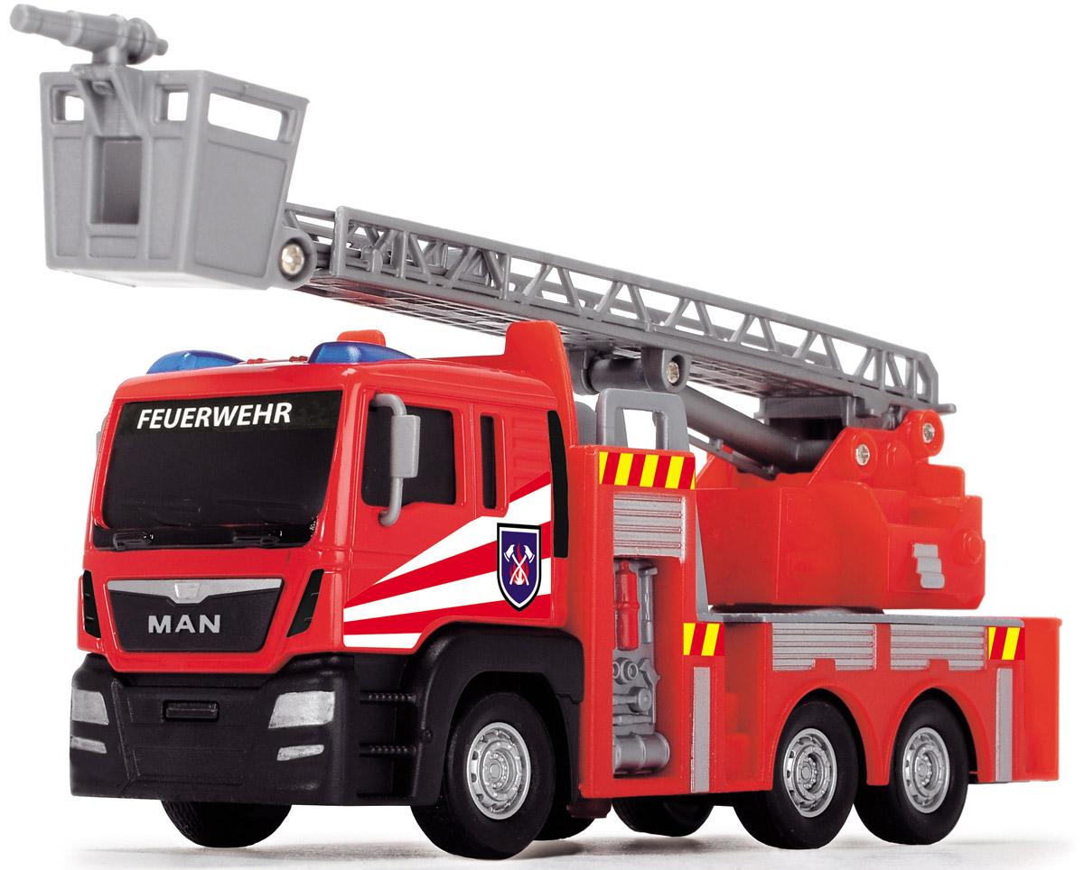 Dickie Toys Пожарная машинка Fire Engine цвет красный серый3712008_вид 2Главный элемент технического оснащения пожарной команды - конечно, красная пожарная машина! Пожарная машина Dickie Toys Fire Engine выполнена в реалистичном стиле и оснащена декоративными элементами - парой синих маячков, окошками, закрытыми жалюзи. Также машина имеет свободный ход колес и выдвижную лестницу. Игрушка изготовлена из прочных, качественных и безопасных материалов, аккуратно раскрашена яркими красками. Вместе с пожарной машинкой Dickie Toys Fire Engine организуйте собственную пожарную станцию!