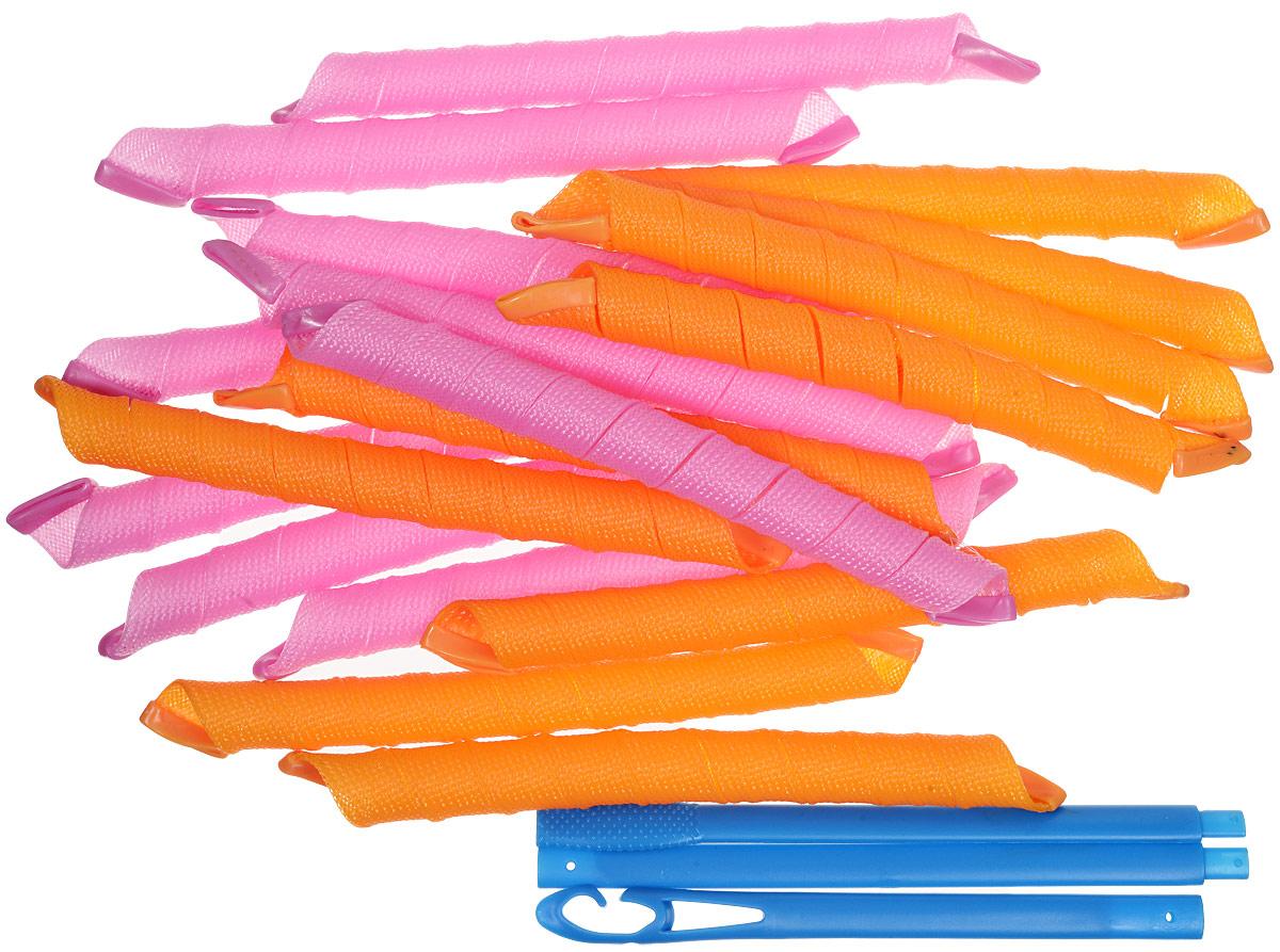 Magic Leverage Волшебные бигуди Длинные 57 см, 18 штД57Комплект из 18 бигуди длиной 57-58 см рассчитан на обладательниц длинных густых волос. Форма и долговечность локонов, полученных с данными бигуди, не уступает салонной химической завивке. Благодаря специальному длинному, тройному крючку пряди легко продеваются в гибкие сетчатые бигуди. Остается только распределить волосы внутри сетчатой основы, высушить и… наслаждаться результатом! Качество лучше обычных длинных волшебных бигуди. Набор продается в удобной косметичке. Теперь бигуди всегда под рукой и удобно сложены. Характеристики: Длина: 57-58 см Ширина локона: 2 см Диаметр завитка: 2 см Количество: 18 шт. Крючок: тройной Упаковка: косметичка