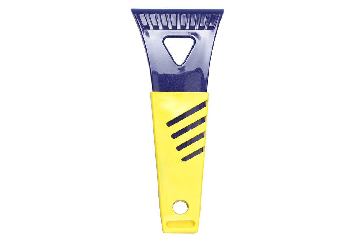 Скребок для льда Goodyear WS-01, цвет: синий, желтый, 17 х 7 смGY000230Удобный компактный скребок для льда Goodyear позволяет быстро и легко очистить стекла автомобиля от наледи и инея. Эргономичная ручка обеспечивает комфортную эксплуатацию. Скребок изготовлен из качественного морозостойкого пластика и может использоваться при экстремально низких температурах (до -50 ?С).