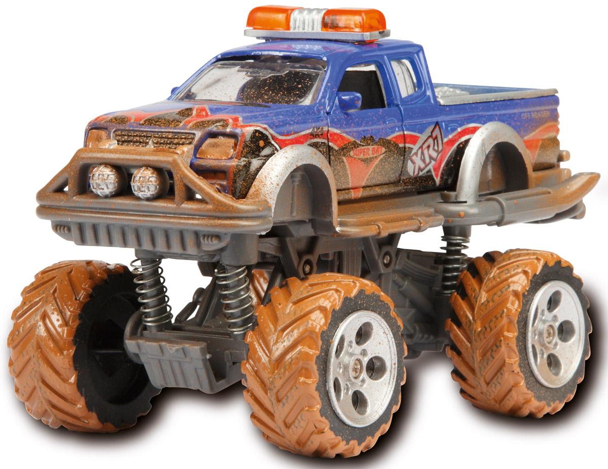 Dickie Toys Внедорожник Rally Monster цвет синий3742000_синийМощный внедорожник Dickie Toys Rally Monster с открывающимися дверями непременно понравится вашему ребенку. Корпус машинки выполнен в ярко-синем цвете. Его поверхность покрыта стилизованными изображениями пламени, номерами, символами и другими картинками. Кроме того, игрушка может похвастать встроенным фрикционным механизмом, благодаря которому ее можно запускать, дабы она преодолевала небольшие расстояния без помощи игрока. Система амортизации обеспечивает внедорожному авто максимальную проходимость даже в самых трудных условиях. Изготовлена эта высокодетализированная модель из обыкновенного пластика, обеспечивающего ей, помимо всего прочего, солидный запас прочности. С этой игрушкой ваш малыш будет часами занят игрой. Порадуйте его таким замечательным подарком!