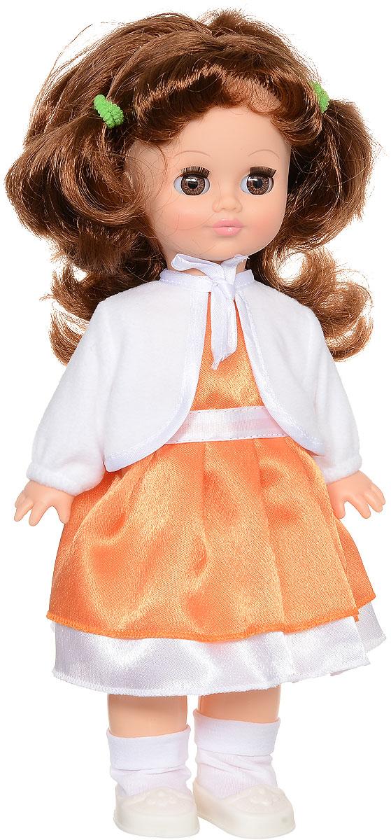 Весна Кукла озвученная Христина цвет одежды оранжевый белыйВ34/о_оранжевый, белыйОчаровательная кукла Весна Христина сможет стать настоящей подружкой для ребенка. У куклы карие глаза и пышные темные волосы. На ней надет прелестный наряд: платье, белая накидка, носочки и белые туфельки. У Христины закрываются глазки, и она умеет разговаривать. Игровые и дидактические возможности куклы: при нажатии на звуковое устройство, вставленное в спинку, кукла произносит фразы. Наличие элементов одежды, которые легко снимаются и надеваются, разнообразят возможности сюжетно-ролевых игр с этой куклой, в процессе которых развивается мелкая моторика и творческое воображение ребенка. Порадуйте свою принцессу таким прекрасным подарком! Милая игрушка научит ребенка доброте и заботе о других. Для работы игрушки рекомендуется докупить 3 батарейки LR44/AG13/СЦ357 (товар комплектуется демонстрационными).