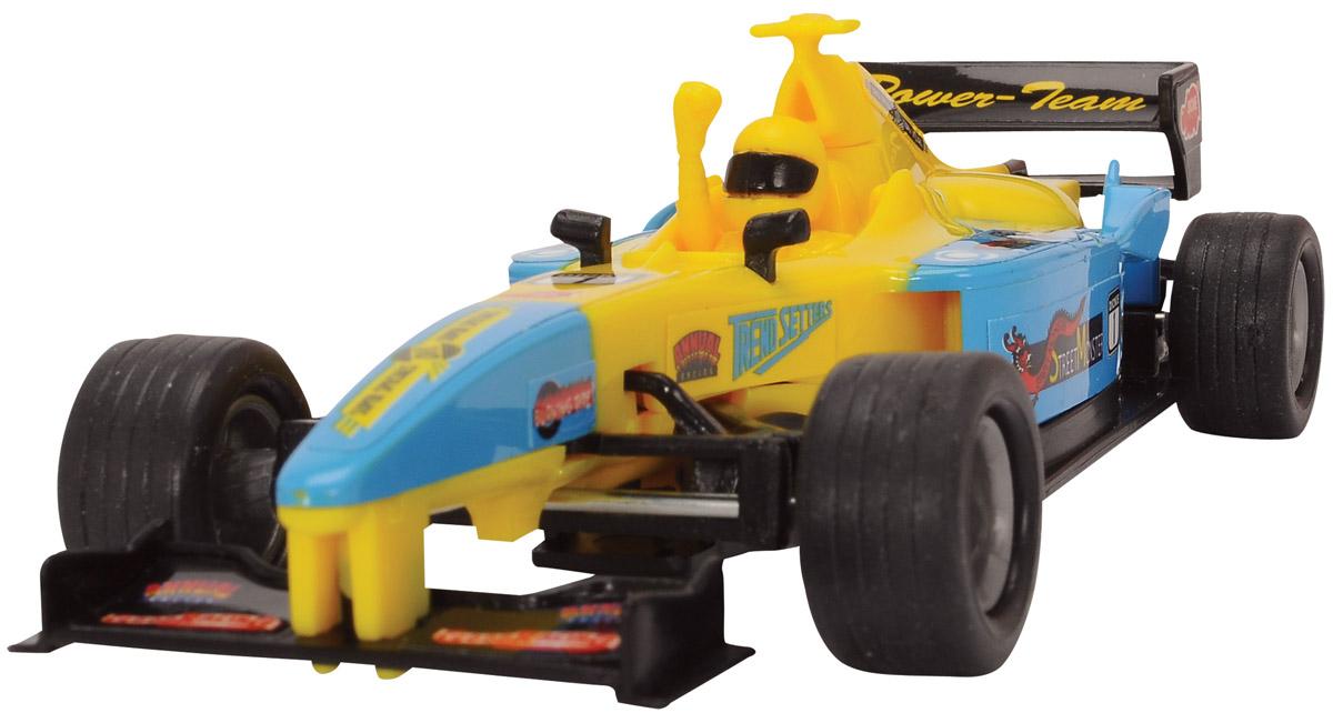 Dickie Toys Машинка Формула-1 цвет голубой желтый3341001_голубой/желтыйМашинка Dickie Toys Формула 1 представляет собой реалистичную копию настоящего гоночного автомобиля. Машинка изготовлена из высококачественного пластика. Для запуска машинки достаточно потянуть за кольцо, расположенное на ее задней части. Машинка Dickie Toys Формула 1 разнообразит игровые ситуации, откроет новые сюжеты для маленького автолюбителя и поможет развить мелкую моторику рук, внимание и координацию движений. Не упустите шанс порадовать своего малыша замечательным подарком!
