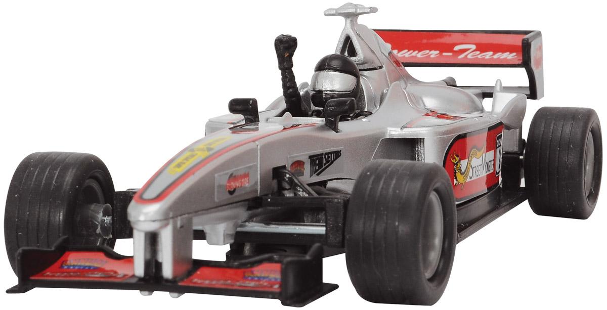 Dickie Toys Машинка Формула 1 цвет серебристый3341001_серыйМашинка Dickie Toys Формула 1 представляет собой реалистичную копию настоящего гоночного автомобиля. Машинка изготовлена из высококачественного пластика. Для запуска машинки достаточно потянуть за кольцо, расположенное на ее задней части. Машинка Dickie Toys Формула 1 разнообразит игровые ситуации, откроет новые сюжеты для маленького автолюбителя и поможет развить мелкую моторику рук, внимание и координацию движений. Не упустите шанс порадовать своего малыша замечательным подарком!