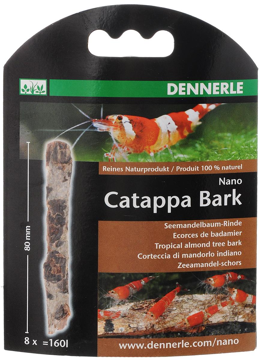 Кора тропического миндального дерева Dennerle Nano Catappa Barks, 8 штDEN5867Dennerle Nano Catappa Barks - натуральный уход за водой и украшение аквариума. Кора миндального дерева создаст в аквариуме воду, похожую на естественную для тропических обитателей (рыб, креветок, раков, сомиков). Она защищает слизистую оболочку, укрепляет иммунитет. Высота коры: 8 см. Количество в упаковке: 8 шт. Применение: примерно 8 корок по 8 см на 160 л.