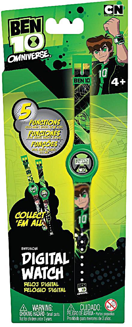 Часы наручные электронные Ben10, цвет: зеленый. BNRJ6OM-1BNRJ6OM-1Стильные детские часы с корпусом и браслетом из пластика. Циферблат защищен от повреждений прочным пластиковым стеклом. Электронные часы имеют 5 функций: месяц – день, часы – минуты – секунды. Товар изготовлен полностью из пластмассы с питанием от химических источников тока, 1 сменный элемент включен в комплект (LR41 (AG3) 1.5 V).Размер изделия (без упаковки): 3х0,5х21 см (ДШВ)