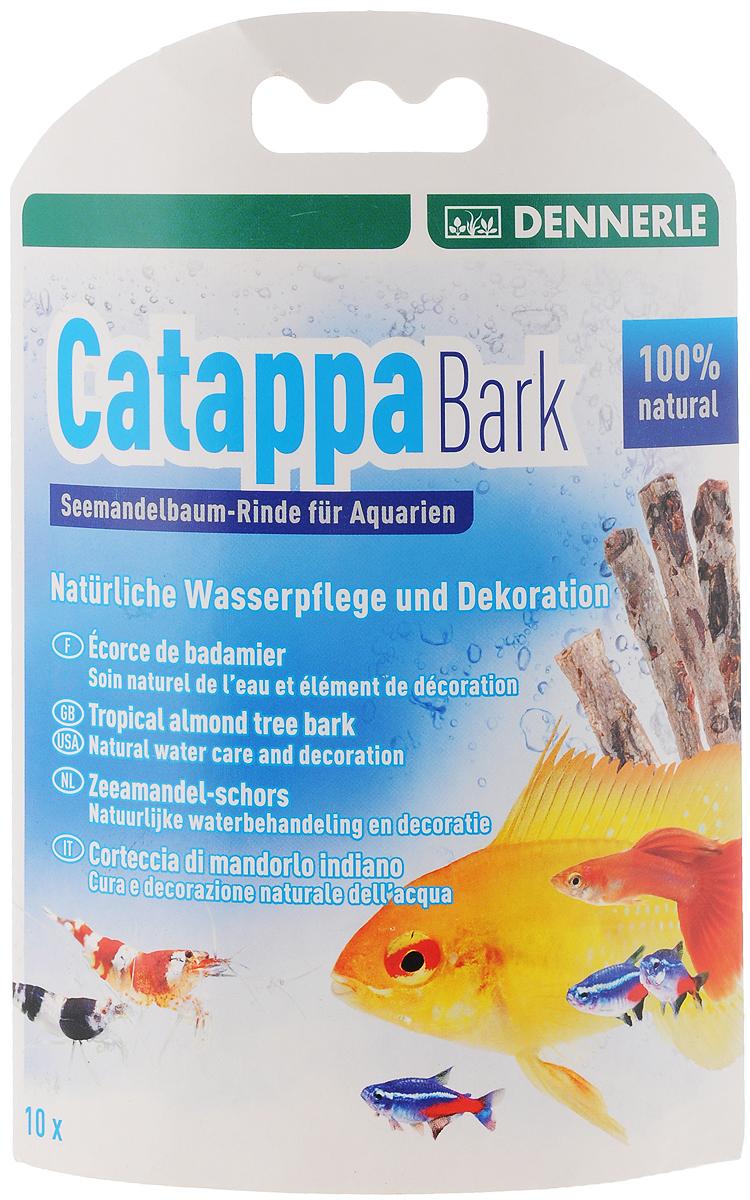 Кора тропического миндального дерева Dennerle Catappa Barks, 8 штDEN2756Dennerle Catappa Barks - натуральный уход за водой и украшение аквариума. Кора миндального дерева создаст в аквариуме воду, похожую на естественную для тропических обитателей (рыб, креветок, раков, сомиков). Она защищает слизистую оболочку, укрепляет иммунитет. Высота коры: 12 см. Количество в упаковке: 8 шт. Применение: 8 корок по 12 см на 800 л.