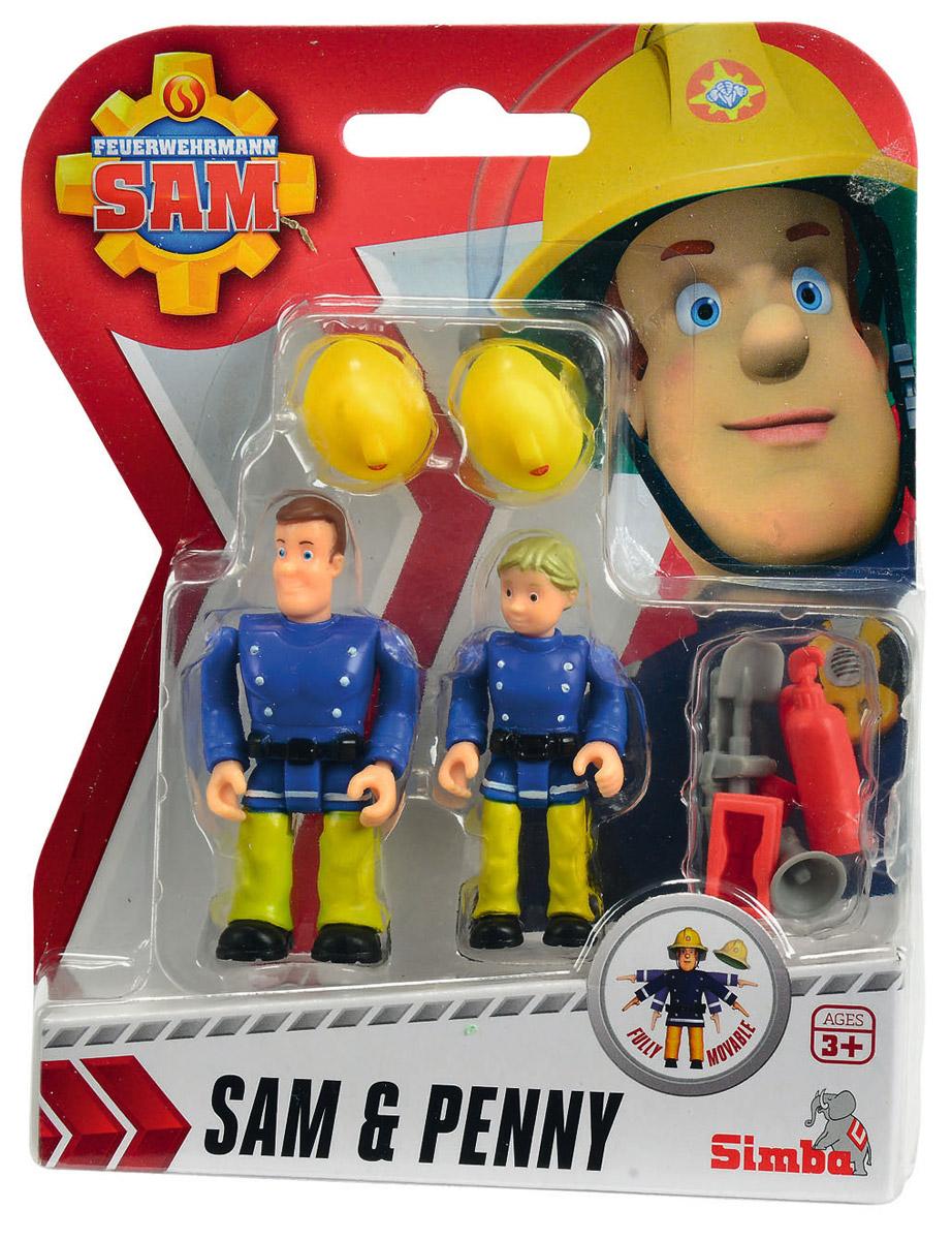 Simba Набор фигурок Sam & Penny9251050_синяя форма 2Набор фигурок Simba Sam & Penny состоит из двух фигурок, которые смогут потушить любой воображаемый пожар. Данные игрушки обладают функциональными частями: во время игры ребенок сможет изменять положение ног и рук фигурки. Также в комплекте имеются маленькие аксессуары, с которыми игра в пожарных будет только интересней. Набор выполнен из качественных и безопасных материалов.