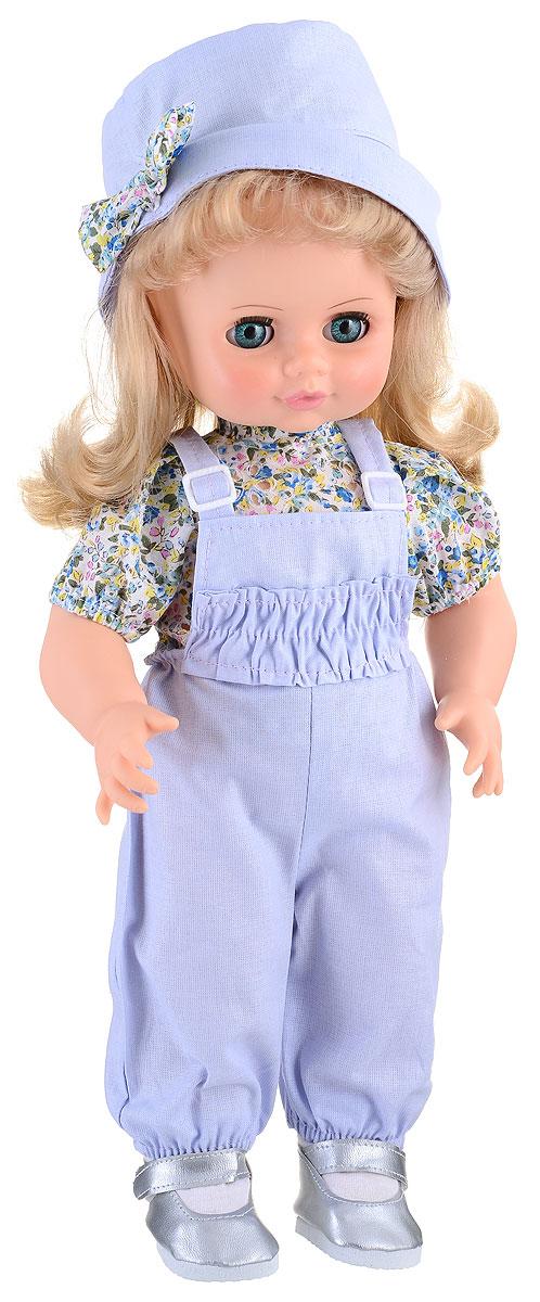 Весна Кукла озвученная Инна цвет одежды светло-голубойВ586/оУ очаровательной малышки Инны большие голубые глаза и блестящие светлые волосы. Кукла одета в блузку в цветочек, голубой комбинезон, шляпку, носочки и серебристые туфельки. У Инны закрываются глазки, она умеет разговаривать. При нажатии на звуковое устройство, вставленное в спинку, кукла произносит следующие фразы: Мама, мы гуляли и испачкались!, Давай умоемся!, Налей воду. А где наша пена?, Сколько пузырьков! Они лопаются!, Дай мыло, Сначала вымой мне лицо и ручки!, Спасибо. А теперь ножки!, А где полотенце?, Давай пускать мыльные пузыри!, Здорово!, Давай еще!. Очаровательная кукла Весна Инна покорит сердце любой девочки! Обаятельный внешний вид и прелестная одежда вызывают только самые добрые и положительные эмоции. Для работы игрушки рекомендуется докупить 3 батарейки LR44/AG13/СЦ357 (товар комплектуется демонстрационными).